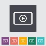 Video player flat icon. Stock Photo