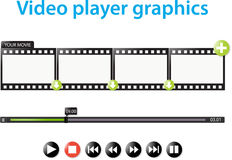 Video player graphics. A set of video player graphics Royalty Free Stock Images