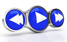 Video player icon. On white background. 3d rendered image Stock Photo