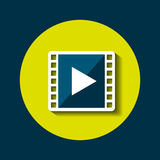 Video player icon Royalty Free Stock Image