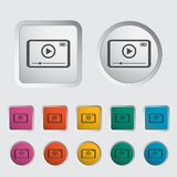 Video player icon. Stock Photography