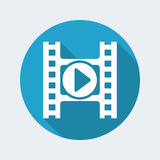 Video player icon. Vector illustration of single isolated video player icon Stock Photo