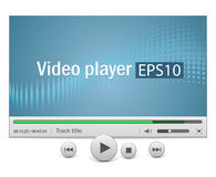 Video player with icons Royalty Free Stock Image