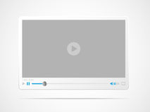 Video player interface Stock Photo