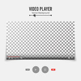Video Player Interface Template Vector. Good Design Blank For Web And Mobile Apps. Stock Image