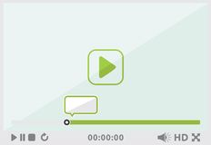 Video player interface Stock Photography