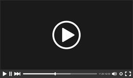 Video Player interface for Web. Vector Stock Images