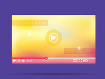 Video player. Media interface for web. Vector illustration. Stock Image