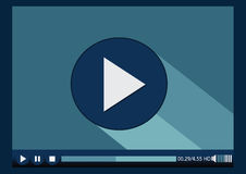 Video player media for web. An images of Video player media for web Stock Photography