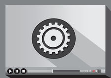Video player media for web Stock Photos