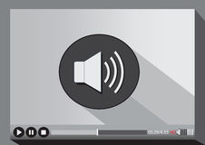 Video player media for web. An images of Video player media for web Stock Photos