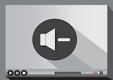 Video player media for web. An images of Video player media for web Royalty Free Stock Photos