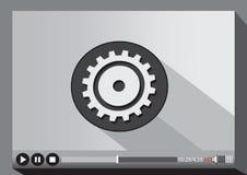 Video-Player-Medien für Netz Stockfotos