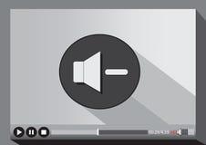 Video-Player-Medien für Netz Lizenzfreie Stockfotos