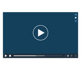 Video Player mockup Stock Photography