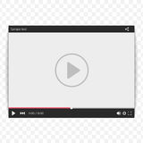 Video player template. Stock Photography