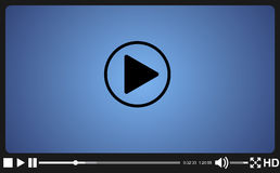 Video player template for web,. Movie screen  vector illustration Stock Image