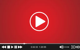 Video player template for web, Royalty Free Stock Photos