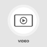 Video player vector flat icon. Video player icon vector. Flat icon isolated on the white background. Editable EPS file. Vector illustration Royalty Free Stock Photography