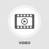 Video player vector flat icon. Video player icon vector. Flat icon isolated on the white background. Editable EPS file. Vector illustration Royalty Free Stock Photos
