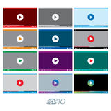 Video Player vector template set Stock Image