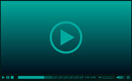 Video player for web Stock Photo