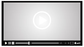 Video player for web,  illustration  eps 10. Video player for web,  illustration eps 10 Royalty Free Stock Photography
