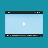 Video player for web Royalty Free Stock Photos
