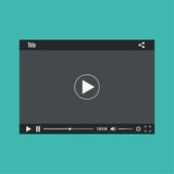 Video player for web. Video media player for web and mobile apps.  Vector illustration Royalty Free Stock Photography