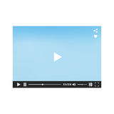 Video player for web. Video media player for web and mobile apps.  Vector illustration Stock Photo