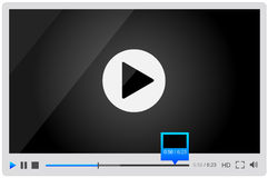 Video player for web, minimalistic design Royalty Free Stock Photos