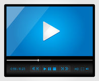 Video player for web, minimalistic design Royalty Free Stock Photo