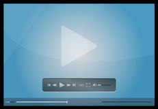 Video player for web, minimalistic design Royalty Free Stock Photography