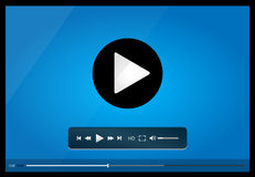 Video player for web, minimalistic design Stock Image