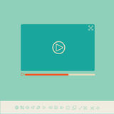 Video player for web and mobile apps Stock Images
