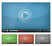 Video Player For Web And Tablet PC Royalty Free Stock Photo