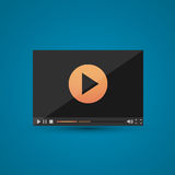 Video player for web Royalty Free Stock Image