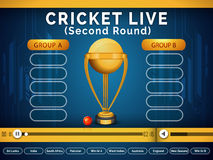 Video Player window for Live Cricket telecast. Stock Images