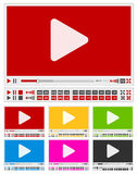 Video players Royalty Free Stock Image