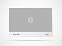 Video-Playerschnittstelle Stockfoto
