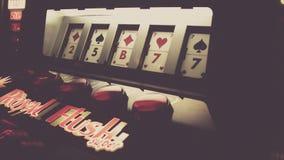 Video poker game royalty free stock image