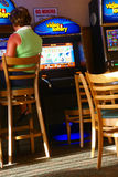 Video poker games in lounge Royalty Free Stock Images