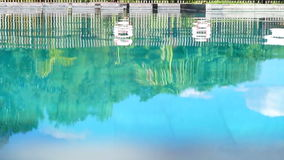 Video of pool reflection vacation abstract. Tropical resort pool reflection vacation abstract