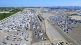 Video porto aereo del carico stock footage
