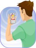 Video praatje Stock Foto