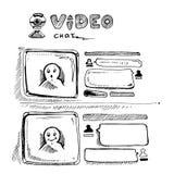 Video pratstund Arkivbilder