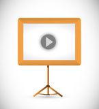 Video presentation board illustration Royalty Free Stock Photos