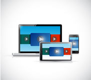 Video presentation in electronics illustration Stock Photo