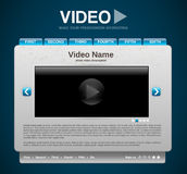Video presentation website template Stock Photo