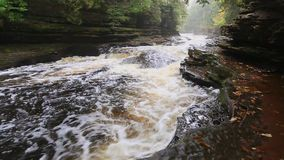 Video of Presque Isle River Pot Holes - Porcupine Mountains stock video footage